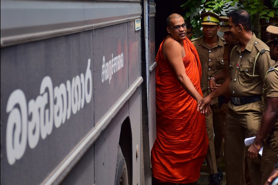 Buddhist groups protest in Lanka over monk's prison uniform