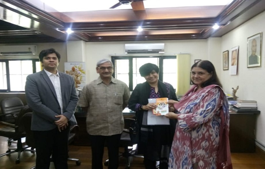 Maneka meets UNODC team, discusses ways to curb drug abuse and crime against women