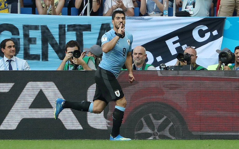 FIFA WORLD CUP 2018: Uruguay vs Saudi Arabia , Suarez guides team home in his 100th match
