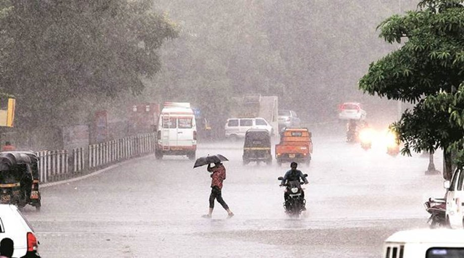 Heavy rainfall in Delhi