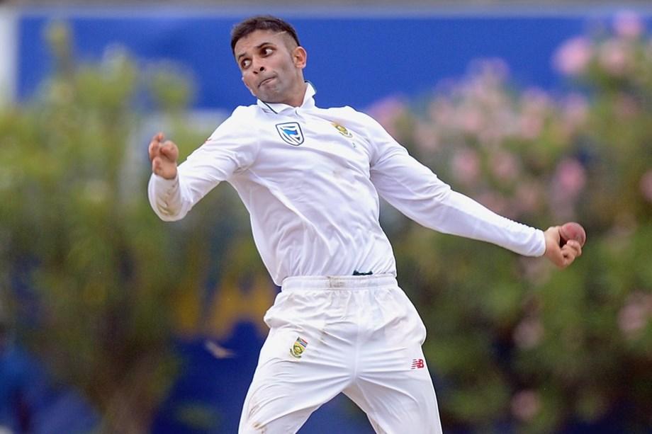 Maharaj's three wickets leave Sri Lanka on 168-3 at tea