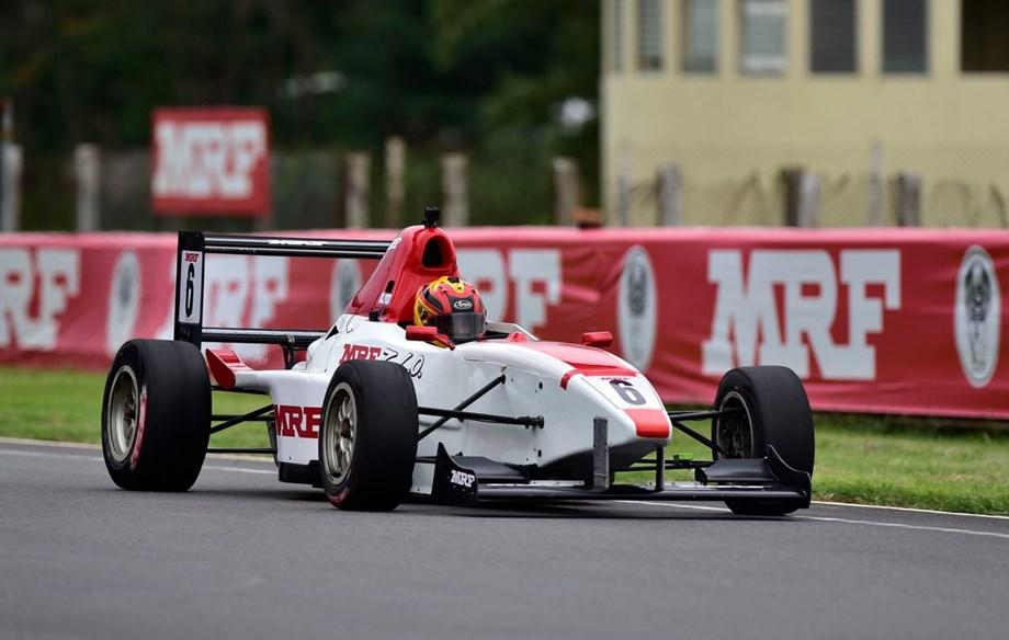 Sandeep Kumar grabs pole in national racing event