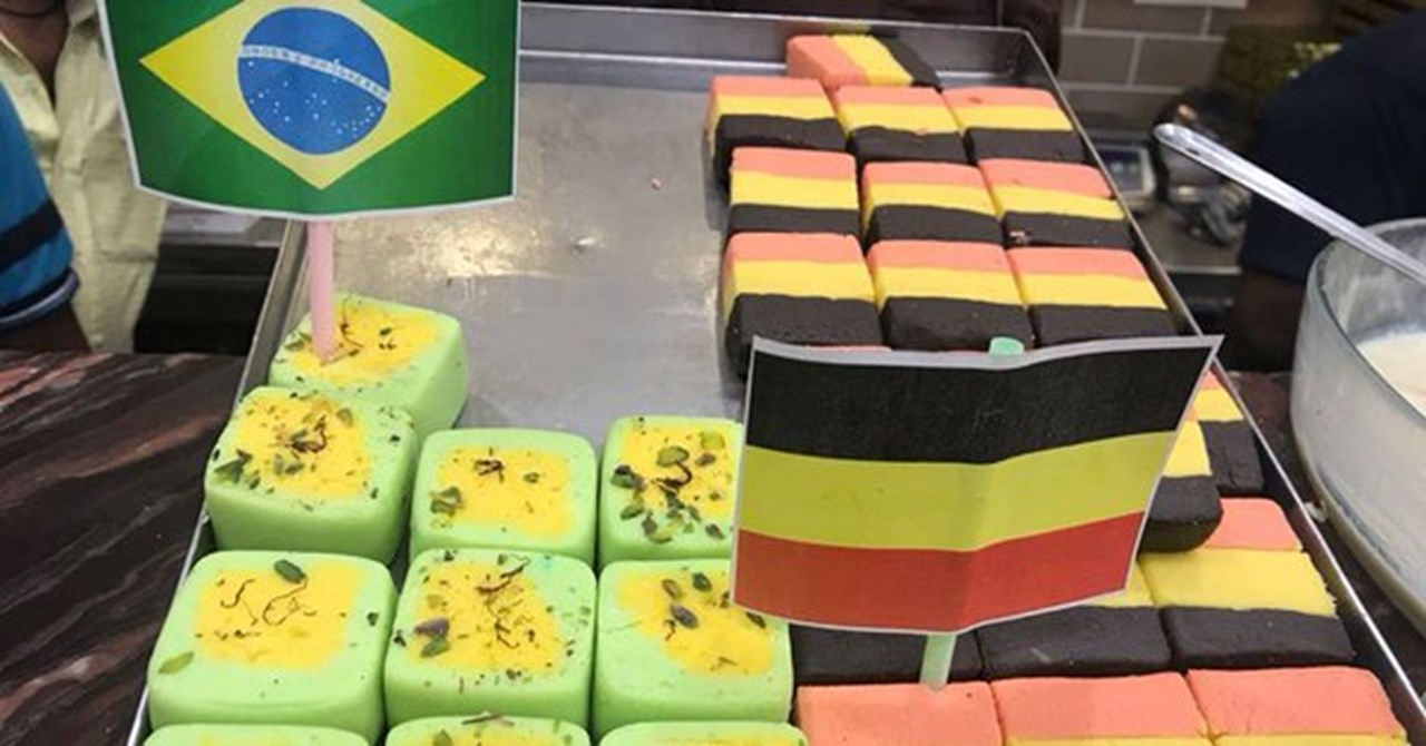 World Cup theme into Bengali sweets, rolling out FIFA-themed cakes and sweetmeats