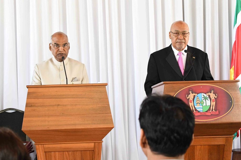 President Kovind, Suriname counterpart Desire Delano Bouterse to perform yoga together