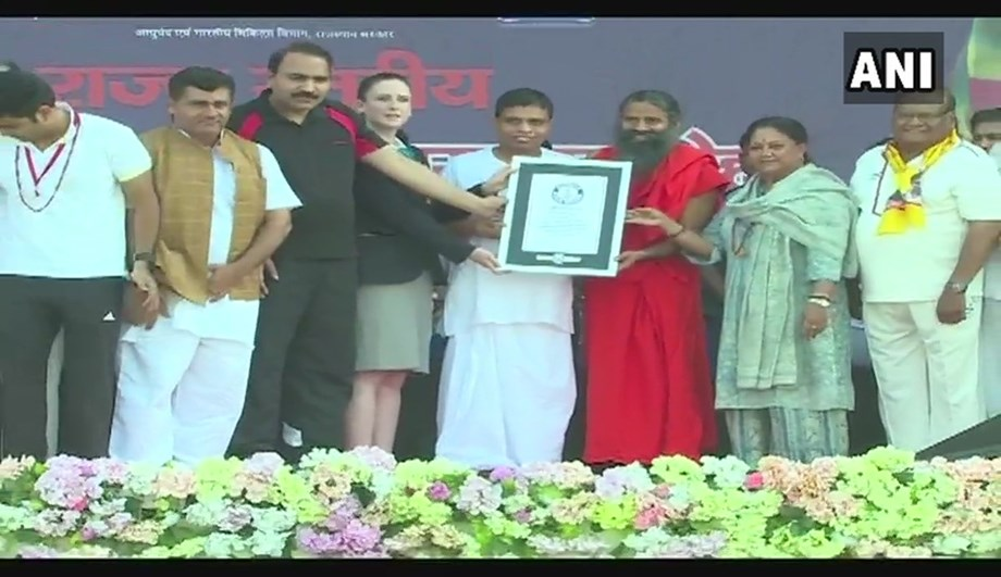 Rajasthan witnesses world record by conducing largest yoga session