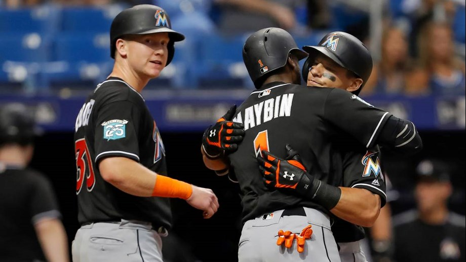Derek Dietrich homers twice as Marlins hold off Rays, 6-5