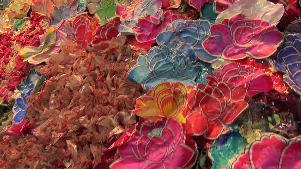 Chinese artist Zhuang Hong' shows amalgamation of East-West through flowers