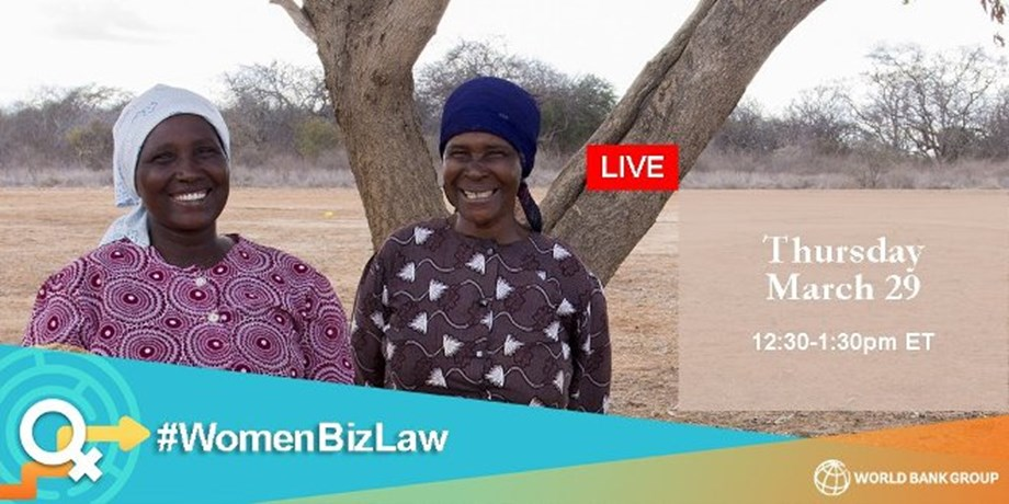 World Bank to launch Women Business and Law 2018 Report tomorrow
