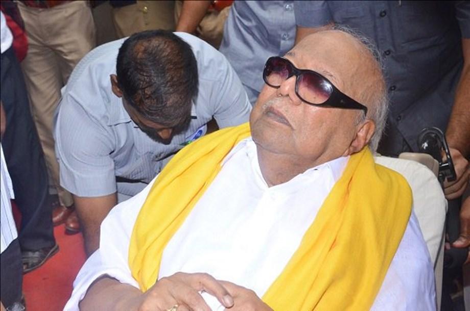 Political leaders pay visit to hospitalised DMK president M Karunanidhi