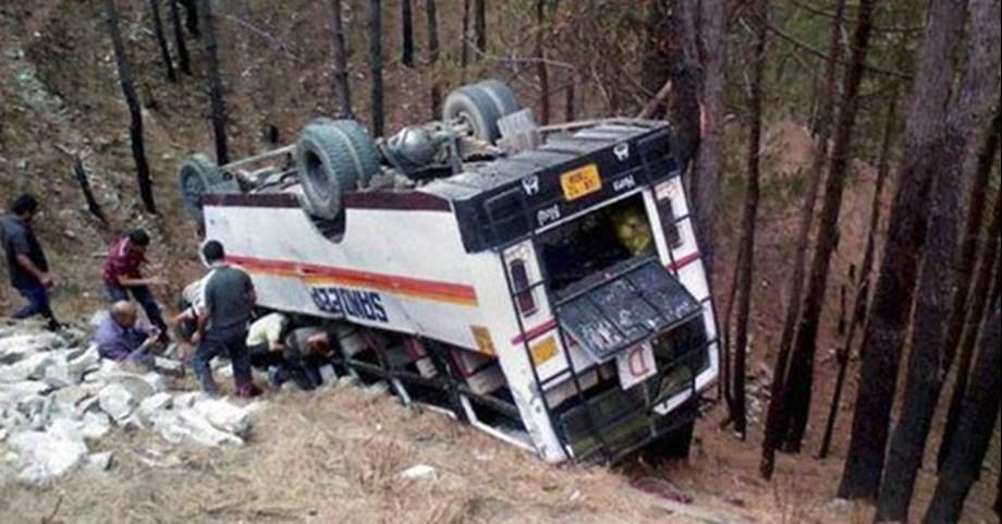 Bus falls into gorge in Himachal Pradesh's Kangra district: 12 injured
