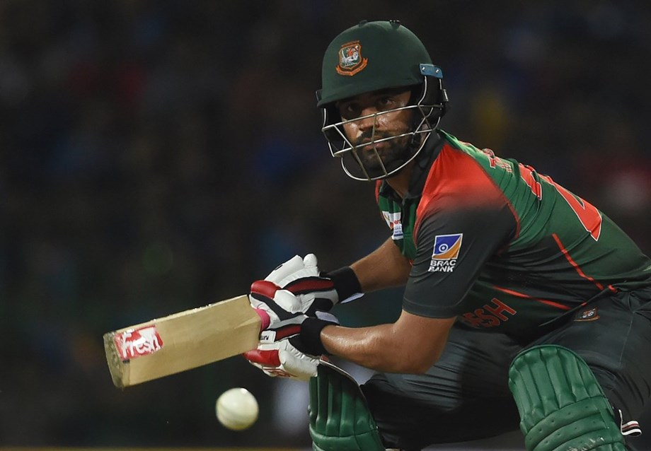Tamim Iqbal's ton leads Bangladesh to record 301 total against Windies