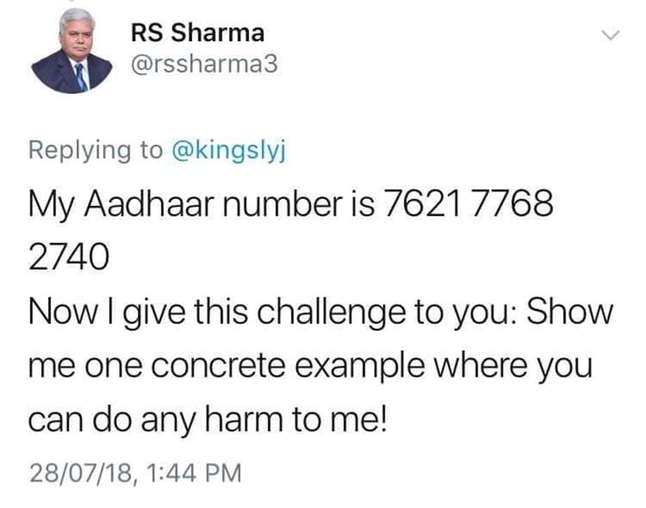 Sharma throws an open challenge not as a regulatory head but an ordinary citizen