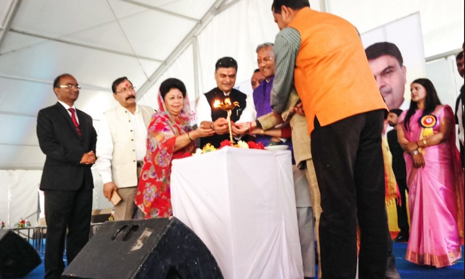 Shri R K Singh lays foundation stone of the 60 MW Naitwar Mori Hydro Electric Project in Uttarkashi
