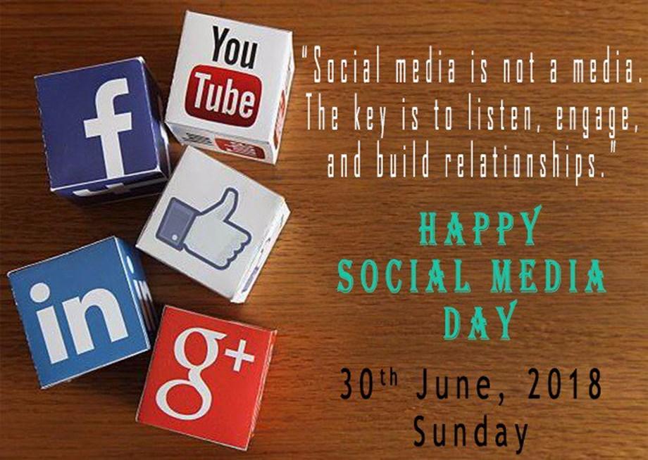 June 30, 2018: Social Media day