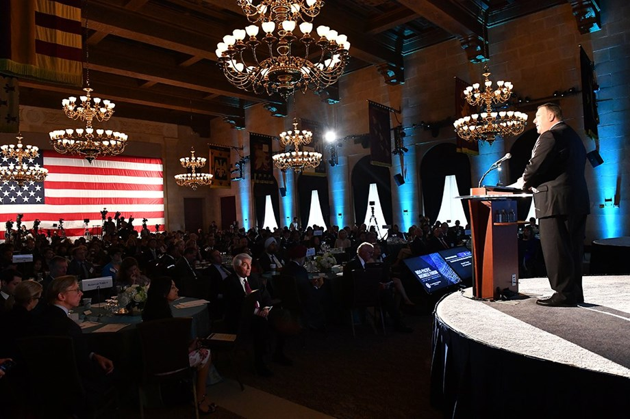US Secretary of State Mike Pompeo addresses Indo- Pacific Business Forum