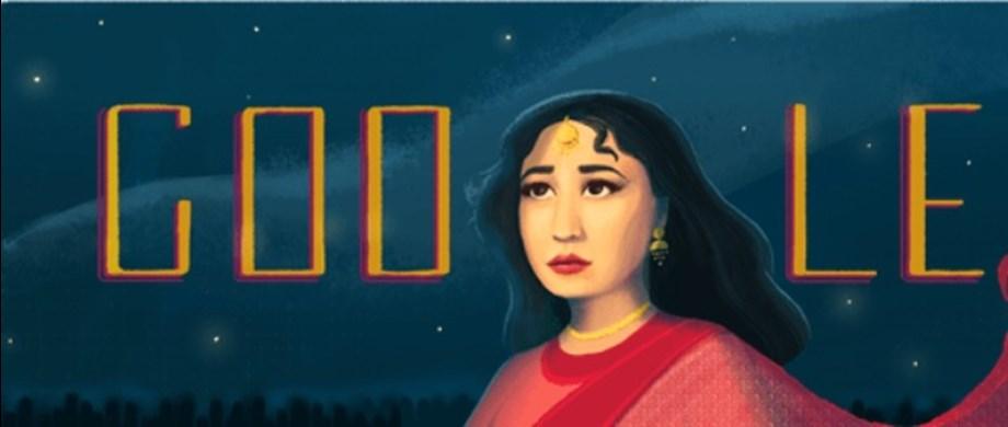 Google Doodle celebrating Meena Kumari's 85th Birthday