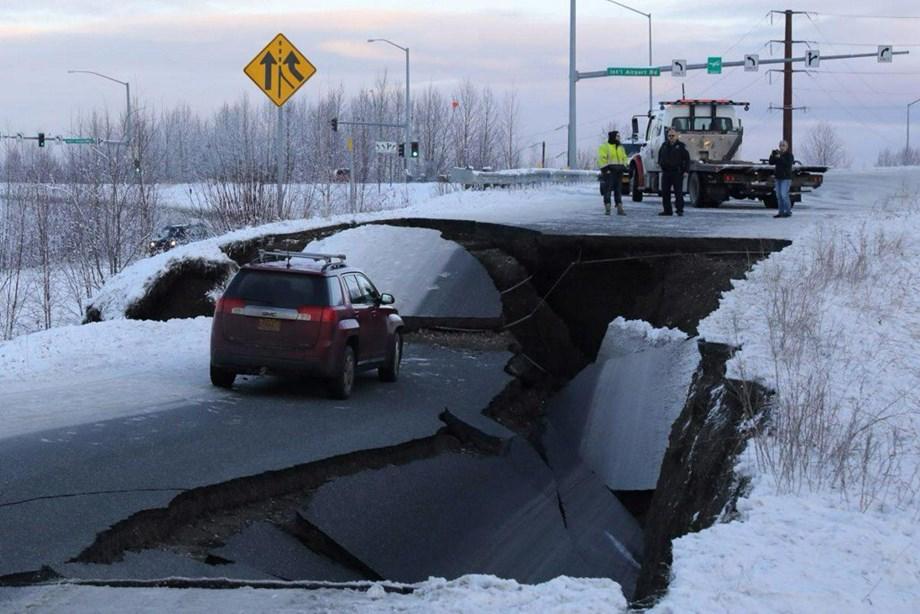 Two tremors shook Alaska; roads, windows broken