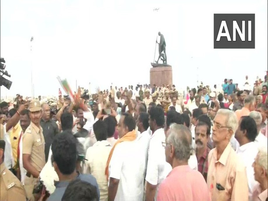 Chennai: Case registered against BJP leader H Raja, party workers over protest at Marina beach