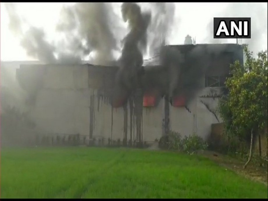 Fire breaks out at cycle factory in Ludhiana