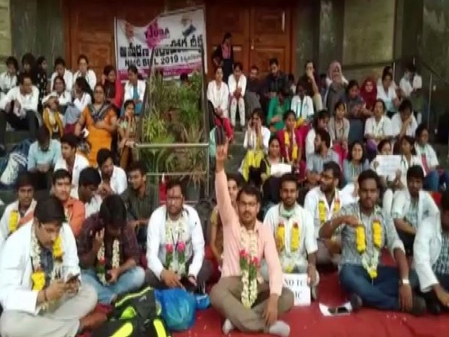 NMC Bill: Junior doctors in Hyderabad boycotts medical practices, continues protest