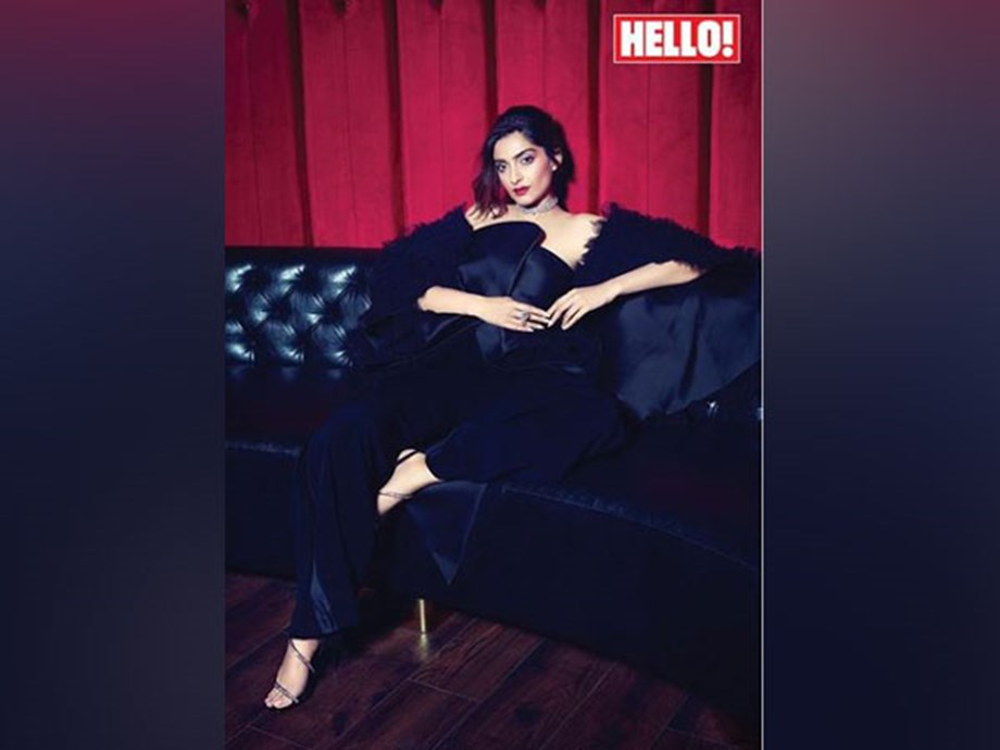 Sonam Kapoor sizzles in black on Hello mag cover