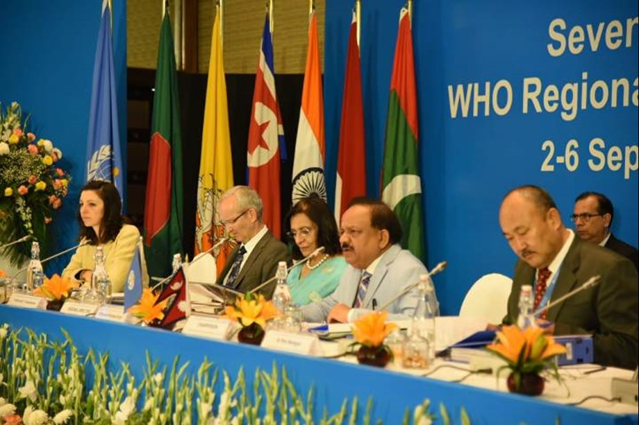 Dr. Harsh Vardhan chairs 72nd WHO Regional Committee for South-East Asia