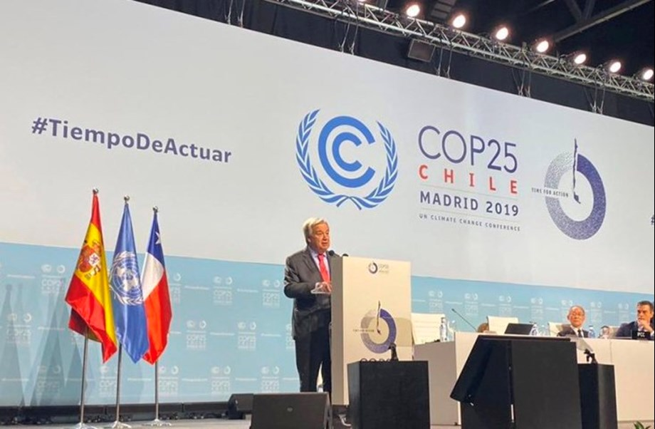 COP25: UN chief calls for leaders to end division over climate change