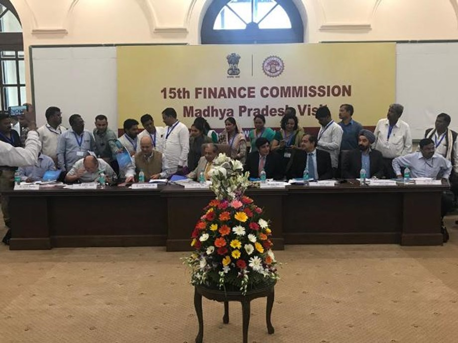 Representatives of 22 PRIs of Madhya Pradesh attend meeting with Finance Commission