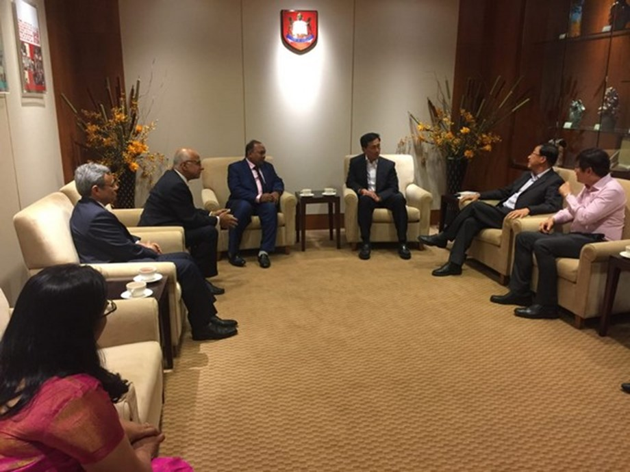 Odisha SDTE Minister meets Singapore's Minister of education Ong Ye Kung