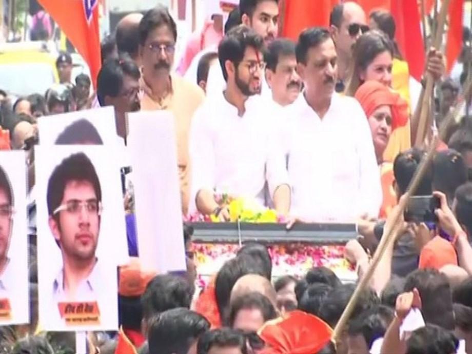 Mumbai: Hordes of supporters join Aaditya Thackeray on his way to filing nomination
