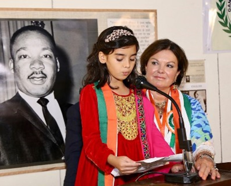 Gandhi 150th Birthday Award--Presented To Heidi Kuhn, Founder/CEO, Roots of Peace