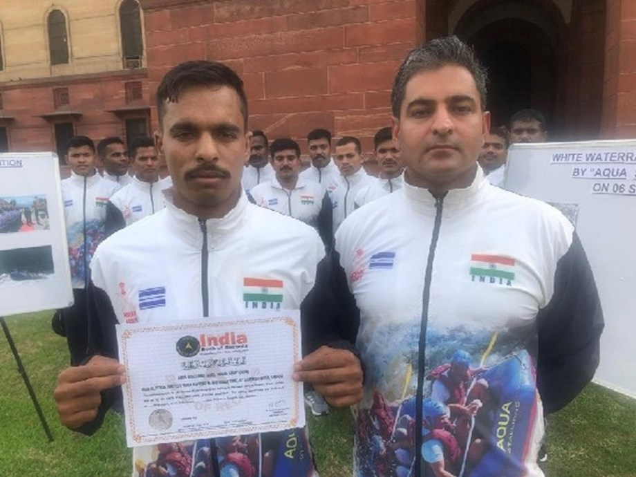 Indian Army's Aqua Stallions rafting team creates national record for fastest rafting at high altitudes