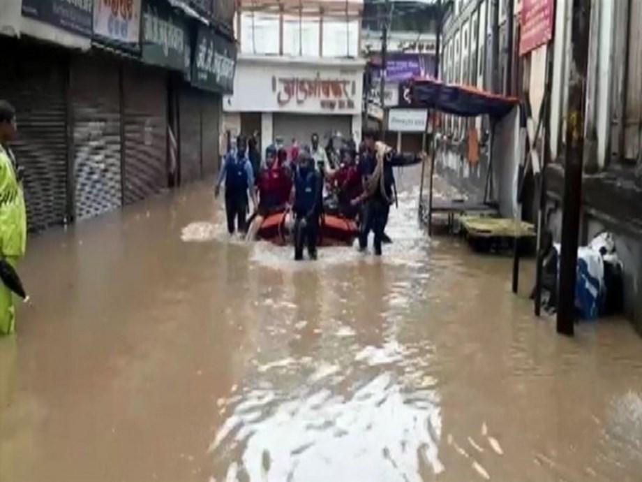 Maharashtra: Flood-like situation in Nashik, NDRF rescues locals