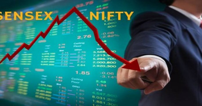 Sensex tumbles 468 pts as Re hits a lifetime low of 72.67