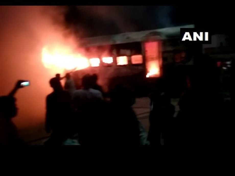 Fire breaks out during shunting in Darbhanga-New Delhi Sampark Kranti train