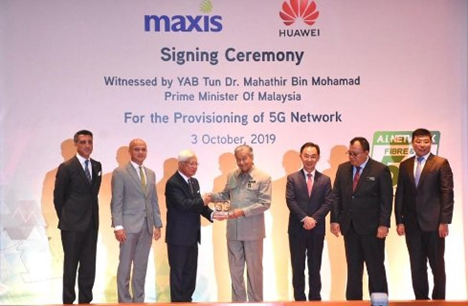 Malaysia's Maxis inks 5G network provisioning agreement with Huawei