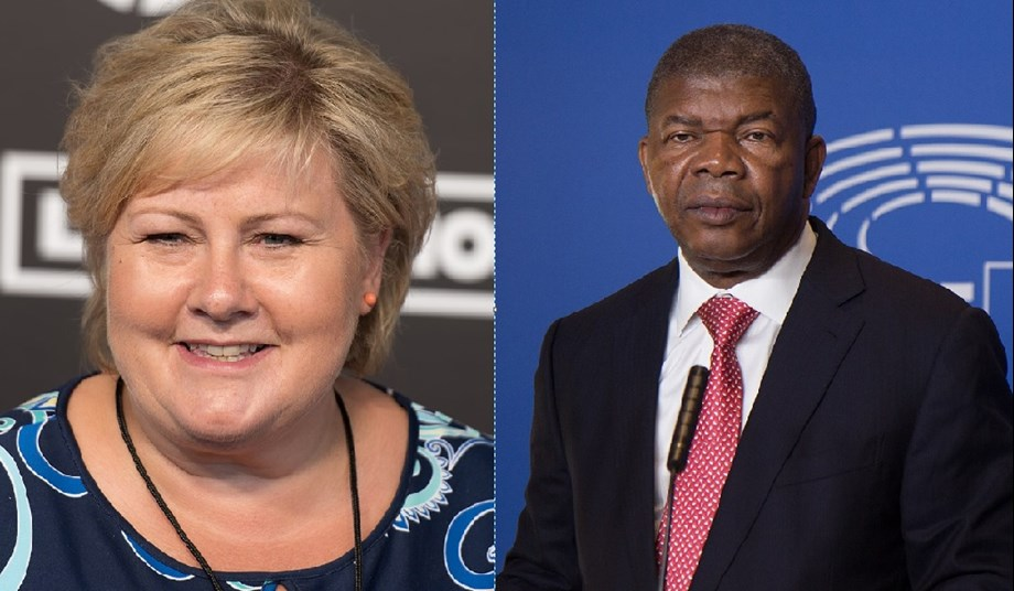 Angola's President Lourenço discusses bilateral relations with Norway's PM Erna Solberg