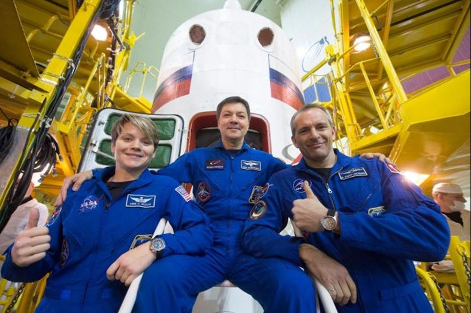 Soyuz carrying three-nation crew lands safely on ISS