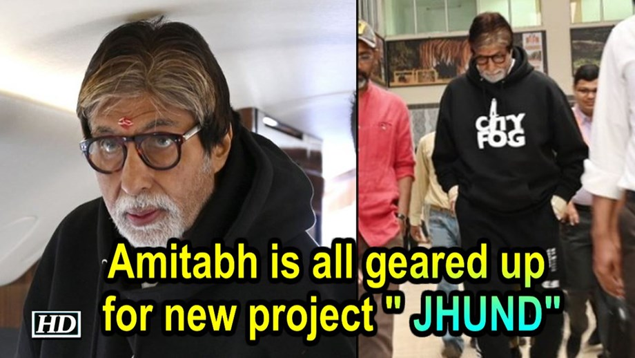 Amitabh Bachchan commences shooting for 'Jhund' in Nagpur