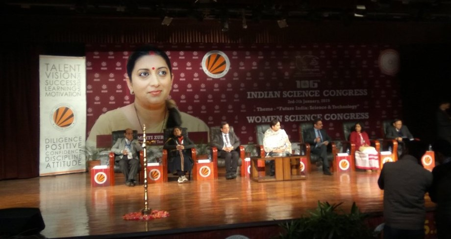 Indian women contribute only 14 pct to science: Smriti Irani