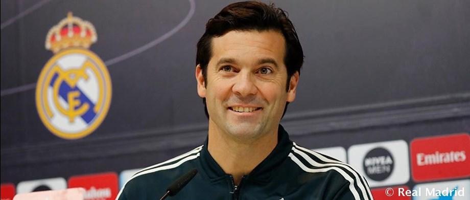 Real's coach Solari pleased with teams progress despite Barca points gap