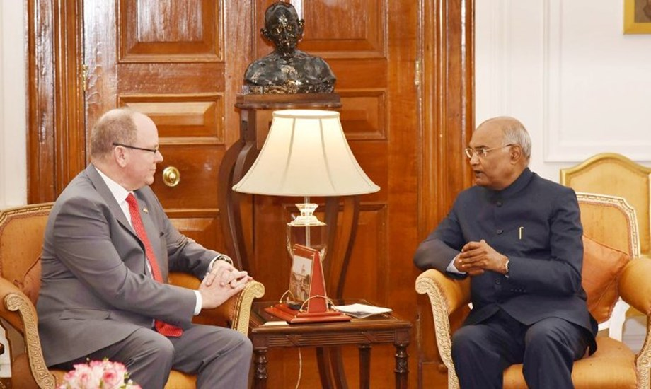 President Kovind welcomes Prince Albert II of Monaco at Rashtrapati Bhavan