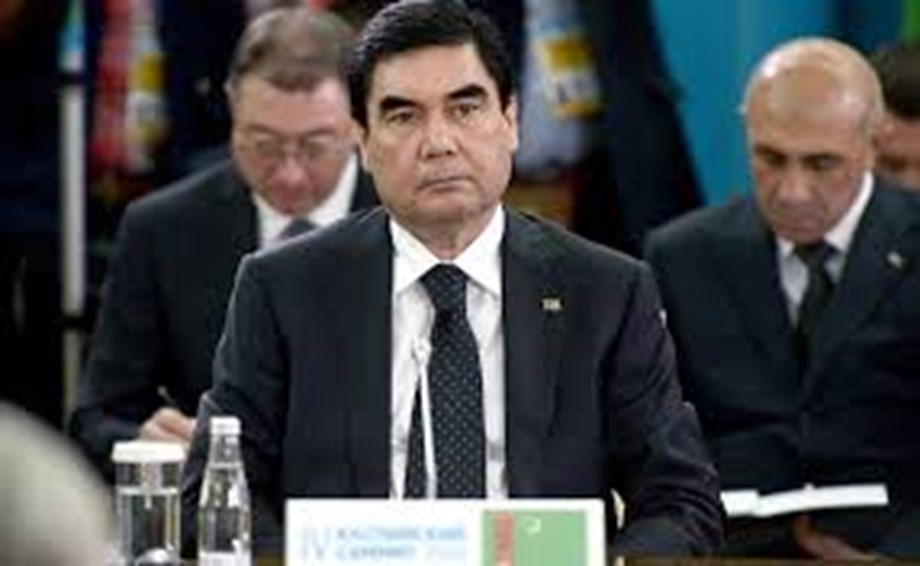 Turkmenistan's leader appears at Hell's Gate to dispel rumours of own death