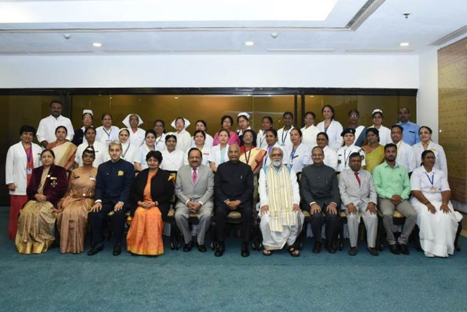 Nurses play a vital role in delivering quality health care: President Kovind