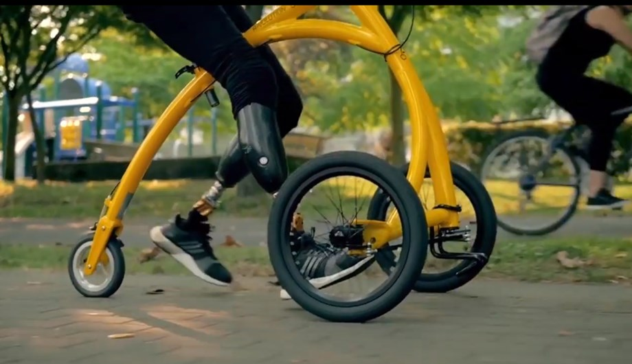 Dutch 'walking-bike' helps disabled people gain mobility, sit tall