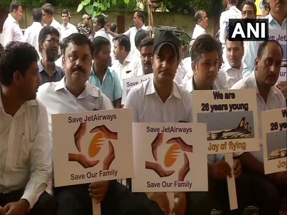 Jet Airways employees stage protest in New Delhi, demand salaries