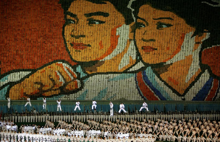 "N.Korean ""Mass Games"" return with messages of reconciliation"
