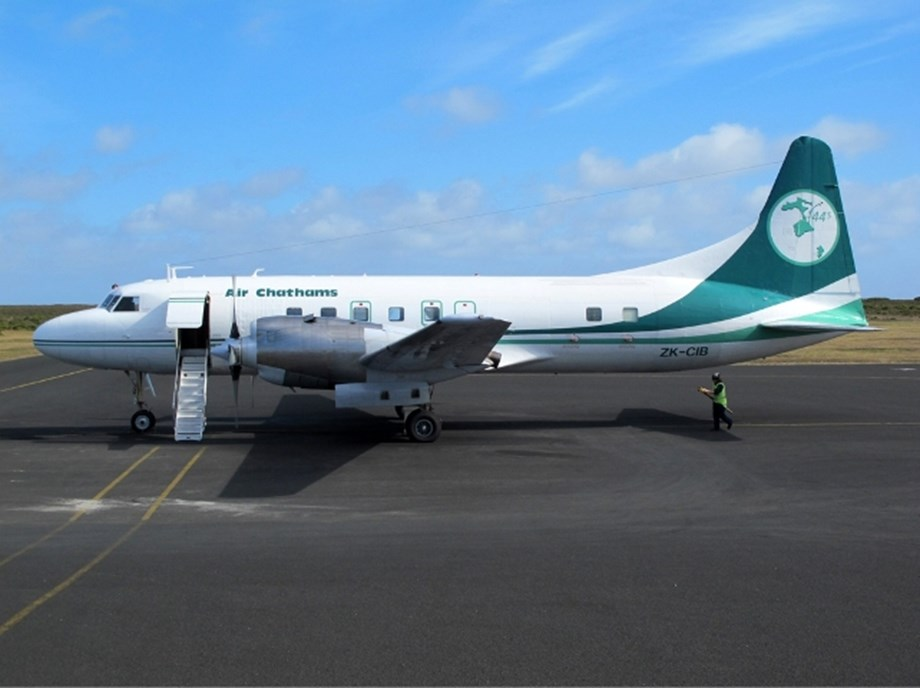 Air Chathams' first flight to Norfolk Island welcomed