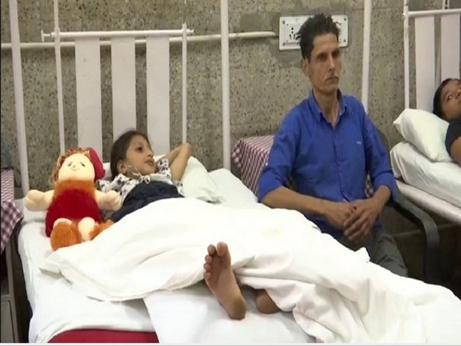 J-K: Girl receives treatment for snakebite at Army Hospital in Srinagar