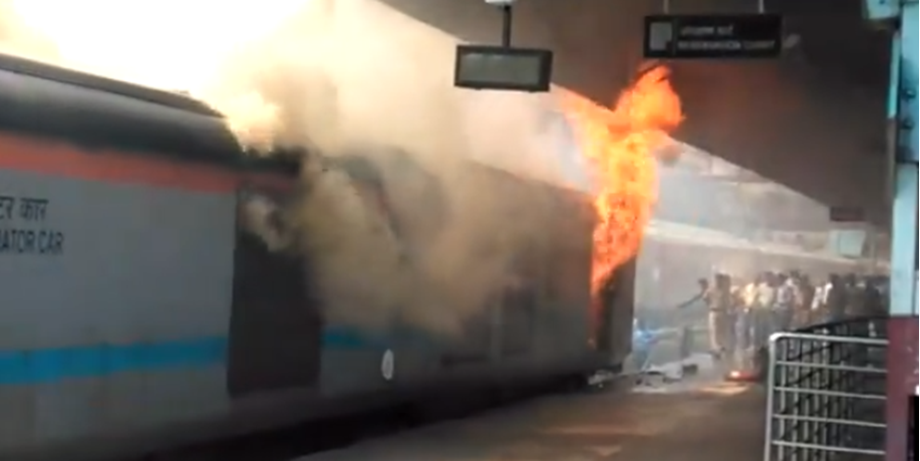 New Delhi Railway Station fire: Rail coach catches fire; no injuries reported